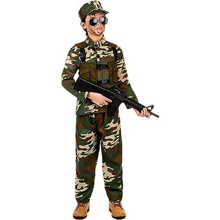 Generique Costume Militare Bambino 7/9 Anni (122/134)