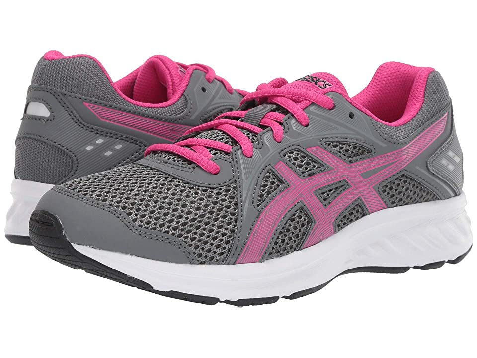 ASICS Kids Jolt 2 GS (Big Kid) (Steel Grey/Pink Rave) Girls Shoes