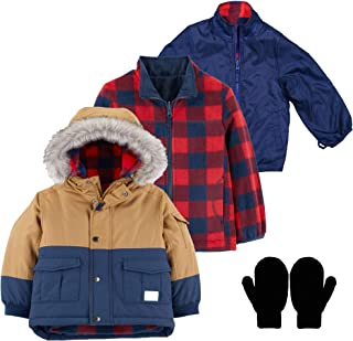 OshKosh Boy 4 in 1 System Winter Jacket Fleece Wind Breaker Rain Coat and Gloves