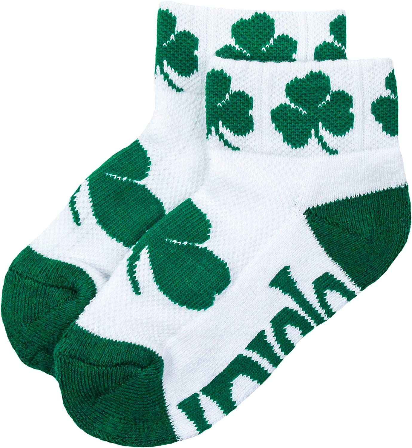 Max 2021new shipping free shipping 52% OFF NCAA Notre Dame Fighting Irish Youth 3-5 Socks QTR Years Green