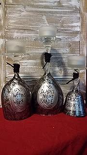 Nightmare Before Christmas Sallys Jars Halloween Wine Candle Set of 3