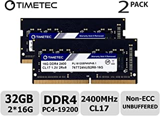 Laptop Memory Upgrade for Dell Inspiron 15 7000 7567 Gaming Series DDR4 2400Mhz PC4-19200 SODIMM 2Rx16 CL17 1.2v RAM DRAM Adamanta 16GB 2x8GB