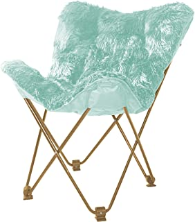 Urban Shop WK657563 Mongolian Butterfly Chair, Aqua