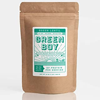 Green Boy plant-based Lentil Protein Powder - Vegan, Non GMO, Soy Free, Gluten Free