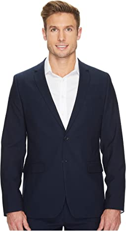 Calvin Klein Slim Fit Two-Button Notch Lapel Fine Cord Stripe Bi-Stretch Jacket