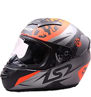 LS2 FF352 AIR FLOW Full Face Helmet with Mercury Visor (Orange, XL)