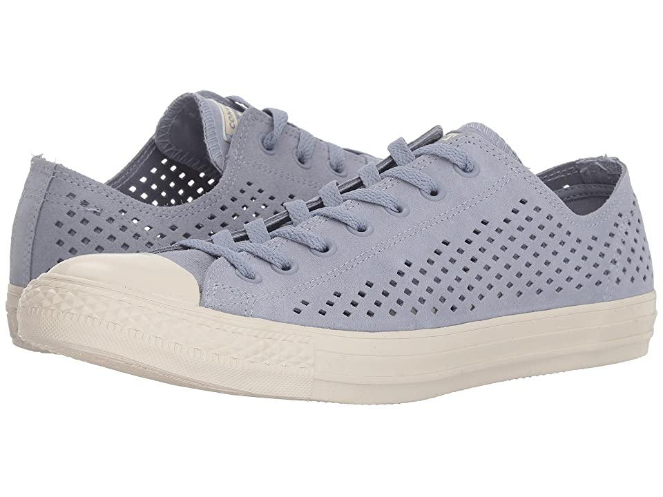 Converse Chuck Taylor(r) All Star(r) Ox Perf Suede (Glacier Grey/Glacier Grey/Driftwood) Classic Shoes