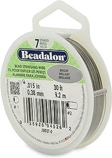 "Beadalon 7-Strand 0.015"" (0.38 mm) 30 ft (9.1 m) Bright Bead Stringing Wire"