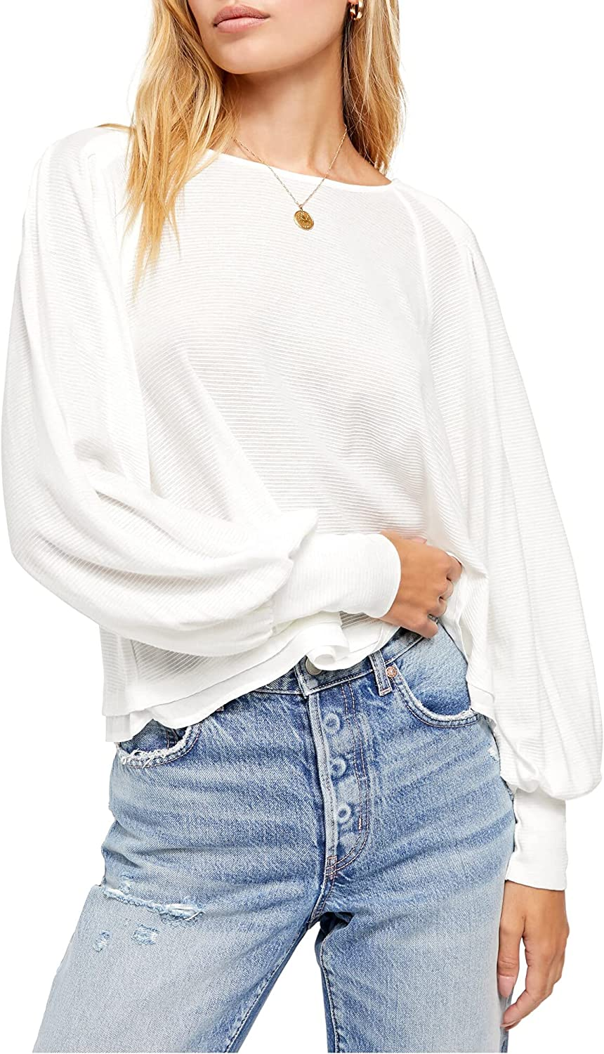 Max 46% OFF Free People Boston Mall Women's Billie Top Ivory - Size Small