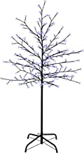WeRChristmas 1.5 m/ 5 ft Pre-Lit 200 LED Illuminated Cherry Blossom Tree with Brown Trunk and Branches, Blue