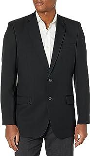 معطف رجالي من نسيج قطني مضلع مناسب للسفر من هاغر أسود 46 Long