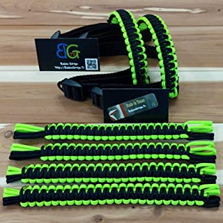 Custom 2 Color Paracord Jeep Wrangler Grab Handles - Pick Your Options
