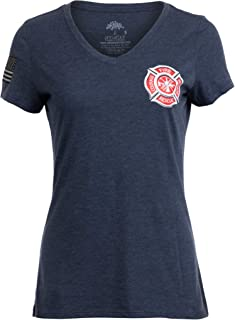 Firefighter Maltese Cross | Fire Fighter Rescue Courage Honor Women Top T-Shirt