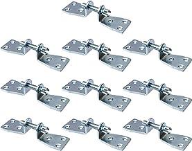 Gedotec Universele meubelverbinder-schroeven, dubbele verbindingsschroeven, verzinkt staal, materiaaldikte 3 mm, set van 1...