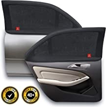ROYAL RASCALS Window Sock x2 - Car Sun Shade for Babies and Children - 40+ UV Sun Protection from Harmful UV Rays - 100% Window Coverage - Universal Size Fits Most Cars - Anti-Glare - Premium Material