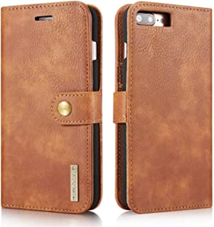 DG Ming Leather Wallet Case for iPhone 7 Plus iPhone 8 Plus-Brown