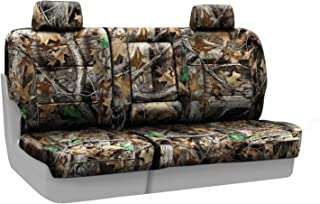 Coverking Rear 60/40 Bench Custom Fit Seat Cover for Select Chevrolet Silverado Models - Neosupreme (Realtree Advantage Timber Camo Solid)