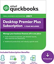 QuickBooks Desktop Premier Plus 2021 Accounting Software for Small Business 1-Year Subscription with Shortcut Guide [PC Do...