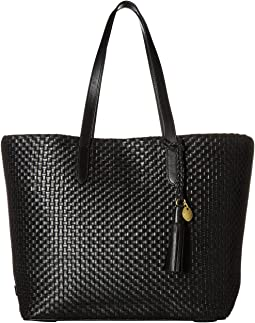 Woven Leather Payson Tote