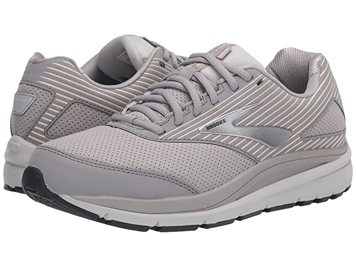 Brooks  Addiction Walker Suede (Alloy/Oyster/Peach) Womens Walking Shoes