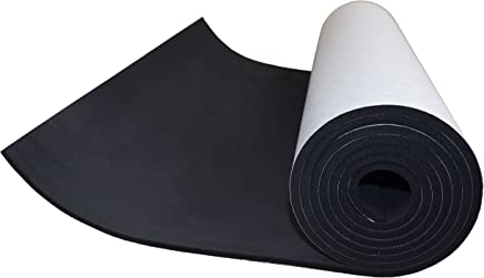 XCEL Large, Value Roll, Sponge Neoprene Sheet with Adhesive 72 in x 17 in x 1/4 in, Made in USA, Easy Cut Material