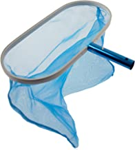 Aqua Select Heavy Duty Deep-Bag Leaf Rake Skimmer with Ultra Fine Mesh   Remove Leaves and Debris for Inground Pool, Above Ground Pool, Fountain and Spas   Blue