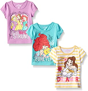 Girls' 3 Pack Princess T-Shirts
