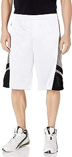 SOUTHPOLE Men's Basic Active Basketball Mesh Shorts, White