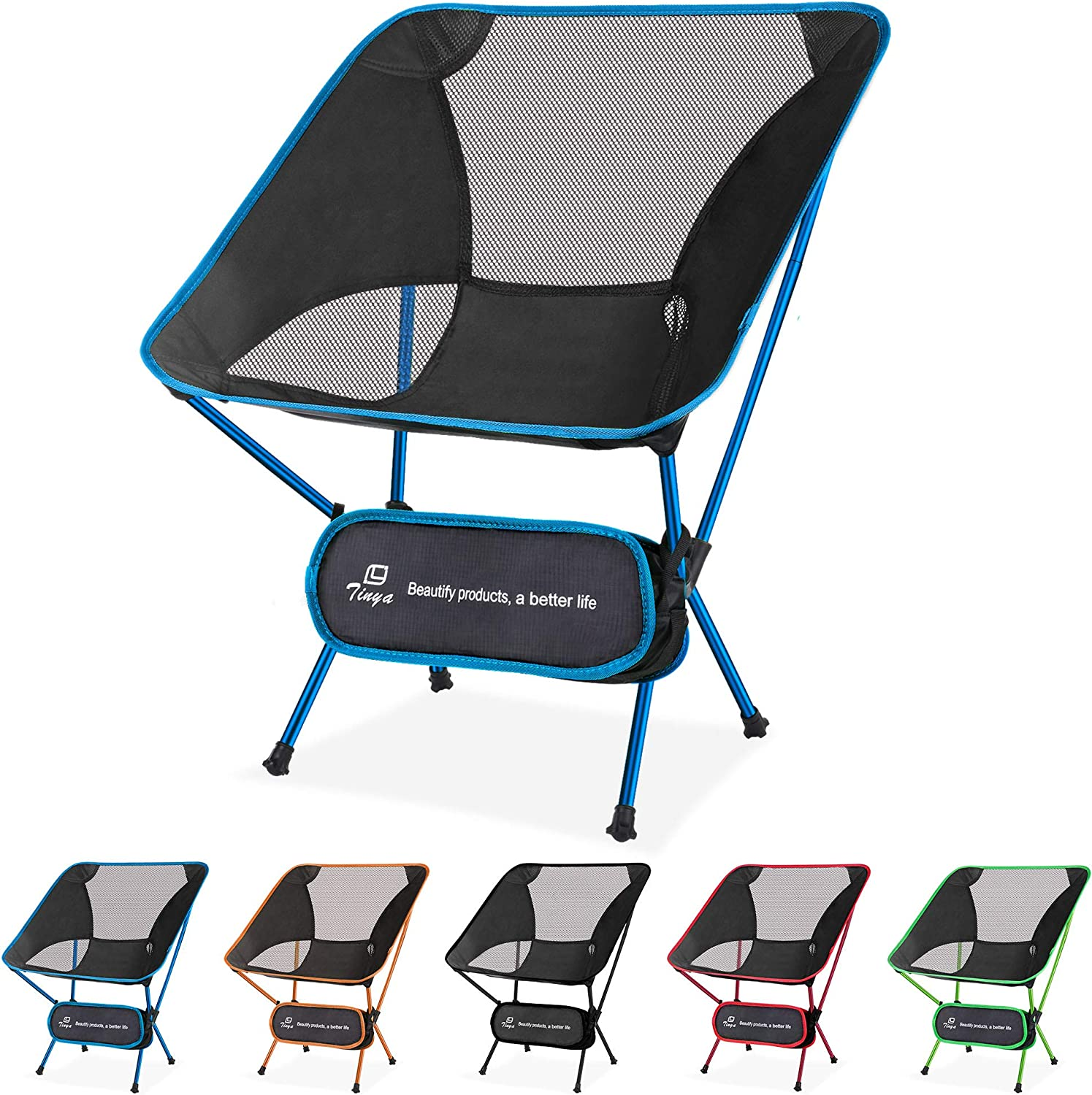 Tinya Ultralight Backpacking Camping safety Large discharge sale Backpacker Chair: He Adults