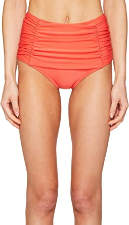 Kate Spade New York - Pink Sands Beach #62 Shirred Front High Waisted Bikini Bottom