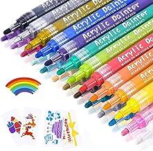 Acrylic Paint Marker Pens, Emooqi 24 Colors Premium Waterproof Permanent Paint Art Marker Pen Set for Rock Painting, DIY C...