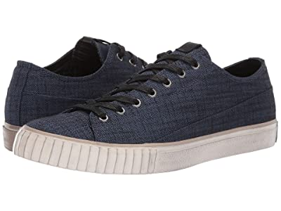 John Varvatos Two-Tone Blended Fabric Low Top (Deep Blue) Men