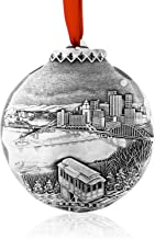 My Home Town Ornament, Metal, Beautiful, Handmade in the USA by Wendell August Forge
