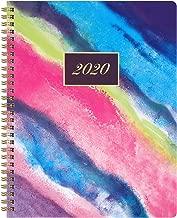 2020 Planner - Watercolor Sky Weekly & Monthly Planner,Cardboard Cover Agenda Planner, Bonus 12 Monthly Tabs, 9.7
