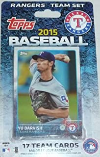 2015 Topps Texas Rangers Factory Sealed Special Edition 17 Card Team Set with Yu Darvish Prince Fielder Plus