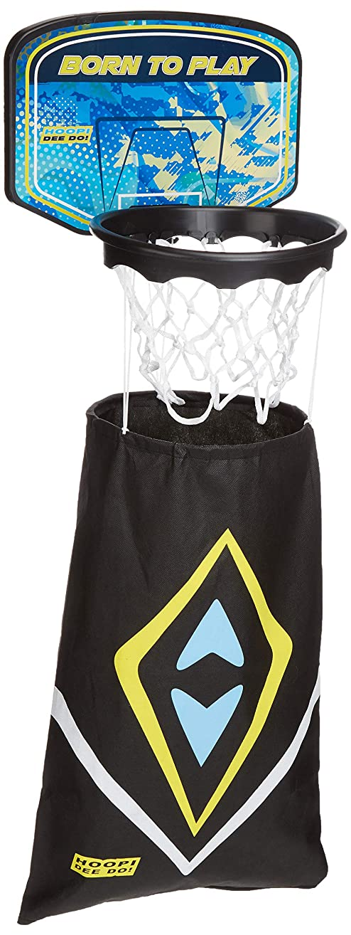 Hoopi Dee Do! Basket Laundry | Includes Backboard, Basketball Hoop, Laundry Bag & 2 Extra Plastic Balls for Games | Keeps Stinky & Dirty Clothes in Baskets & Hampers for 3+ Year Old