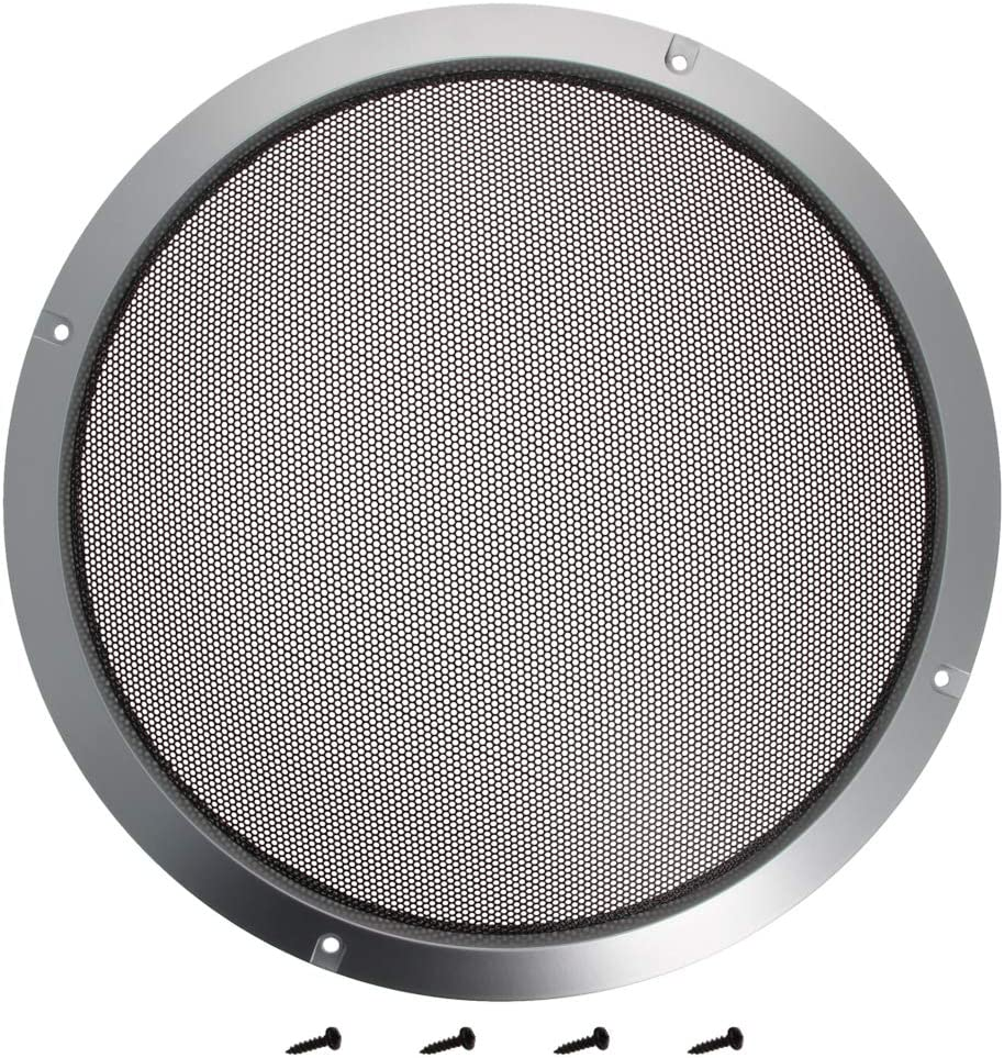 Fielect 2 Pcs 5inch //124mm Speaker Grill Mesh Decorative Circle Woofer Guard Protector Cover Audio Accessories Metal Trim Silver