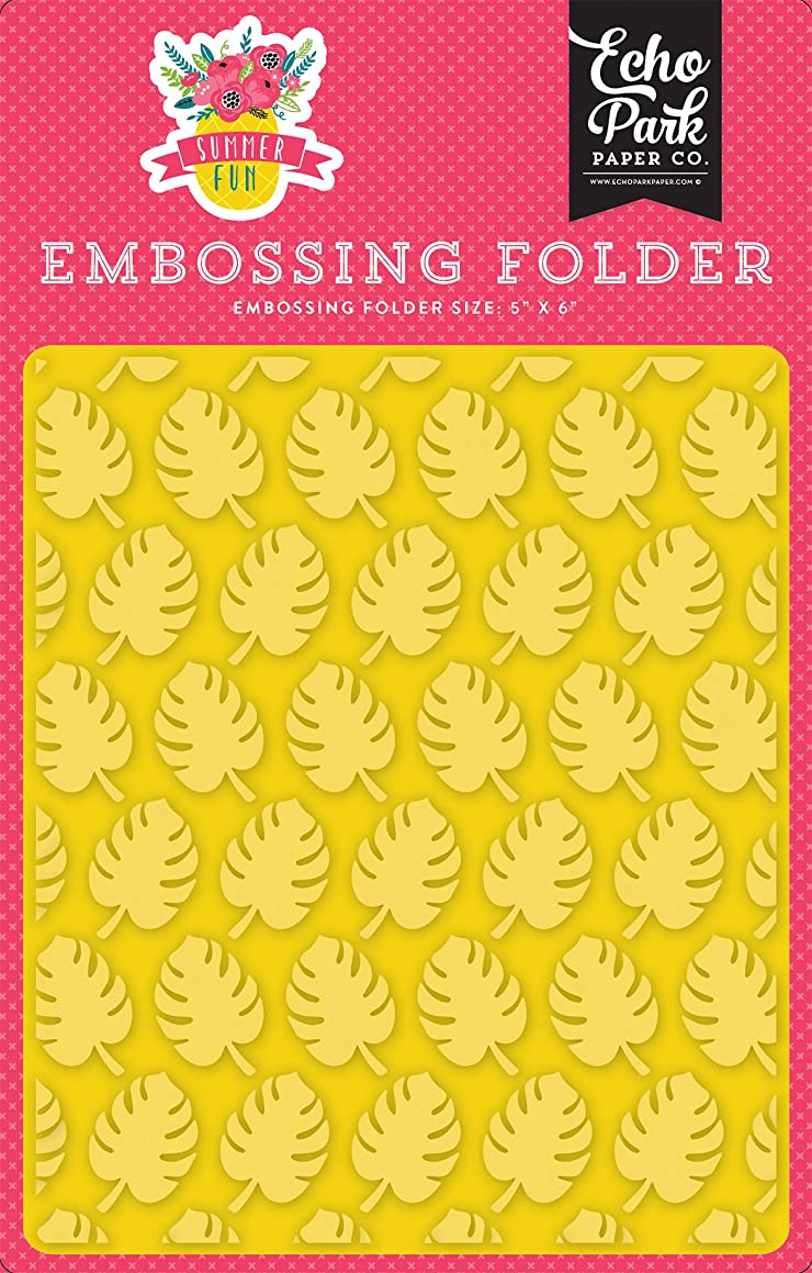 Echo Park Paper Company Embossing Folder -Perfect Palm