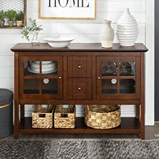 WE Furniture Wood Console Table, Walnut