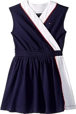 Wrap Dress with VELCRO® Brand Closure at Shoulder (Little Kids/Big Kids)