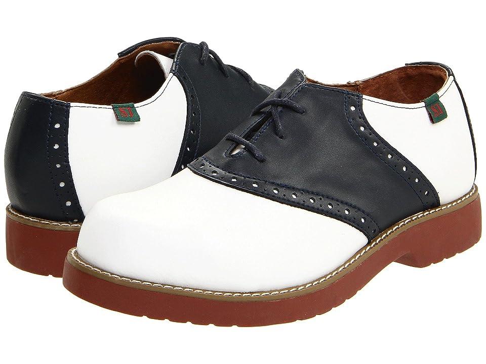 School Issue Varsity (Toddler/Little Kid/Big Kid) (White/Navy) Girls Shoes