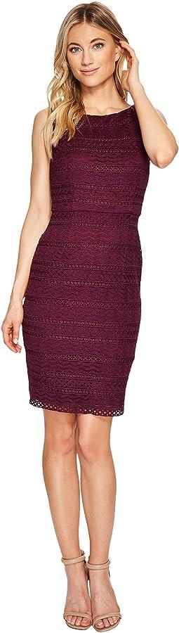 Julia Fringe Lace Sheath Dress
