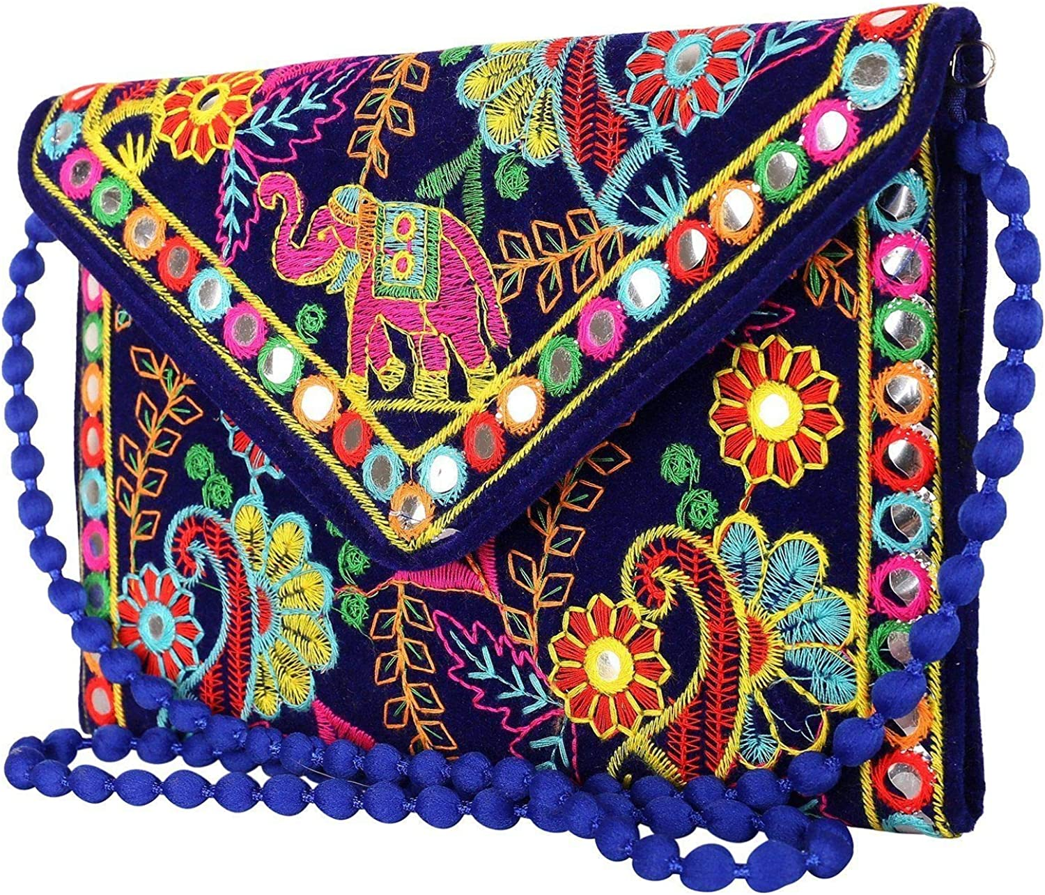 Indian Wholesale 50 pc lot Bulk Mandala Hand Bag Ethnic Clutches Purse Shoulder Assorted for Ladies by Panchal Creation-47