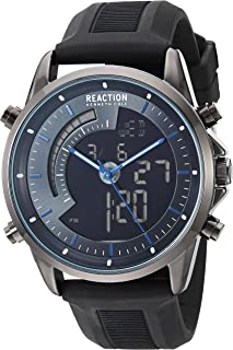 Kenneth Cole Reaction Men's Quartz Metal Case Silicone Starp Casual Analog-Digital Display Watch (RK50815006/05)