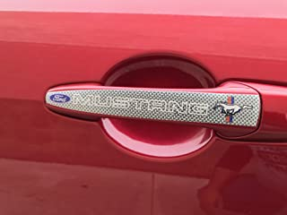 """2011-2014 Mustang GT 5.0 Coyote V8 5/"""" Chrome /& Red Fender Lower Emblem Accent"""
