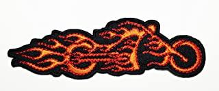 ad4a4ef524fab HHO Motorcycles Flame Fire Ghost Rider Logo Patch Embroidered DIY Patches  Cute Applique Sew Iron on