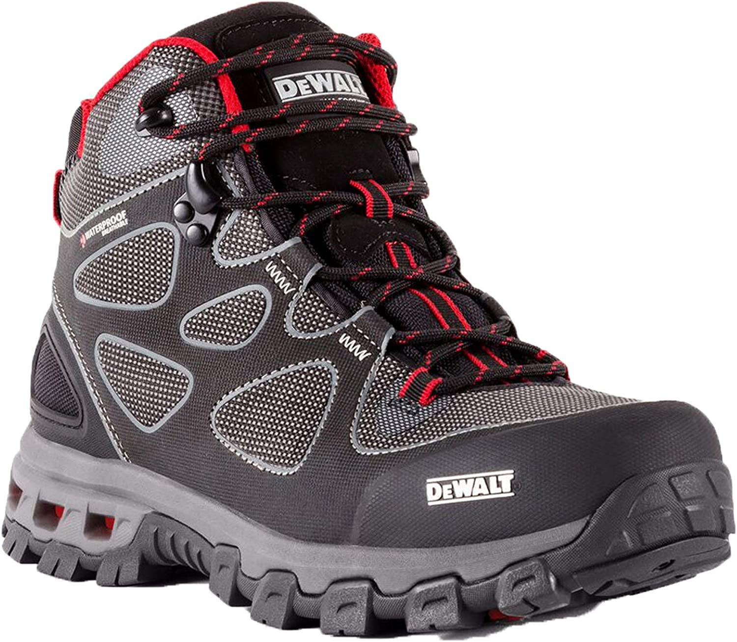 Dewalt Men's Lithium Steel Toe Waterproof Boot, Style NO. DXWP10003 (7 D(M) US, Lithium Red)
