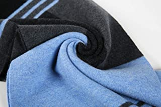 JINHHメンズウールスカーフ、メンズデニムニットスカーフ、冬の暖かいソフトカシミア風ニットスカーフ