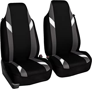 FH Group FB133102 Premium Modernistic Seat Covers Gray/Black- Fit Most Car, Truck, SUV, or Van