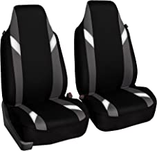 FH Group FB133GRAY102 Bucket Seat Cover (Supreme Modernistic Airbag Compatible (Set of 2) Gray)